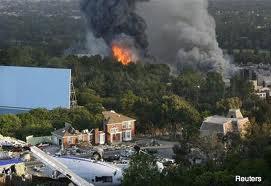 Les studios de Burbank en flammes