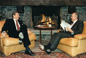 Reagan et Gorbatchev